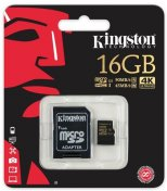 Карта пам'яті Kingston Micro SDHC 16 ГБ (SDCG/16GB)