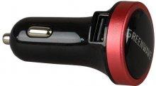 Автомобільний зарядний пристрій GREENWAVE CH-CC-224 2xUSB 2.4A чорний