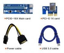 Додатковий модуль живлення відеокарти (райзер) Ritar riser PCI-Ex x1 to x16, 6-pin, V.006, USB 0.6 м