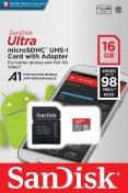 Карта пам'яті SanDisk Ultra Micro SDHC 16GB SDSQUAR-016G-GN6MA