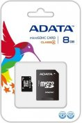 Карта пам'яті A-Data Micro SDHC 8GB AUSDH8GCL4-RA1