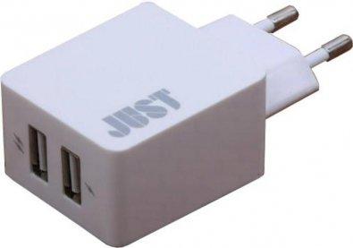 Мережевий зарядний пристрій Just Core Dual USB Wall Charger 2xUSB 3.4A білий