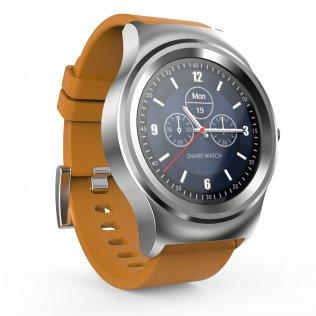 Смарт годинник SMA Round Leather коричневі