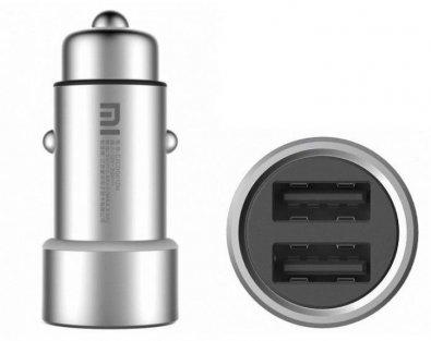 Зарядний пристрій Xiaomi RoidMi Car Charger 2xUSB 2.4A Silver (1A100CNA/1A100OVA)