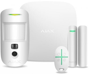 Комплект сигналізації Ajax StarterKit Cam Plus White (000019854)