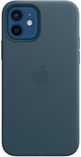 Чохол Apple for iPhone 12/12 Pro - Leather Case with MagSafe Baltic Blue (MHKE3)