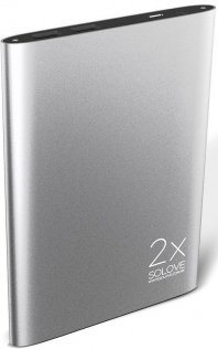 Батарея універсальна Solove A8 Power Bank 20000 mAh срібляста