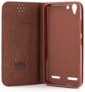Чохол Fabric для Lenovo K5/K5 Plus коричневий