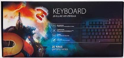 Клавіатура 2Е Ares KG 109 чорна