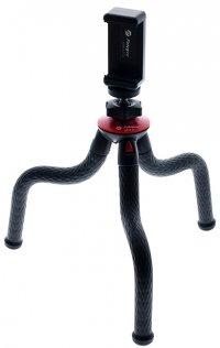 Селфі монопод для смартфону FotoPro UF02 (tripod), смартфон/GoPro адаптер, Чорний з Червоним