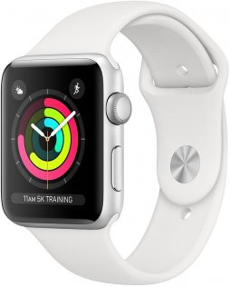 Смарт годинник Apple Watch Series 3 GPS 38mm Silver Aluminium Case with White Sport Band (MTEY2)