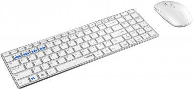 Комплект клавіатура+миша Rapoo 9300M White