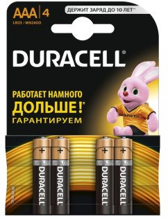 Батарейка Duracell LR03 MN2400 AAA (BL/4)
