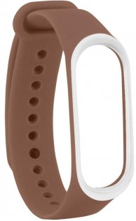 Ремінець Climber for Xiaomi Mi Band4 - Original Style Silicone Double Color Brown/White (CBXM408 Brown/White)