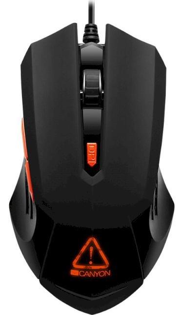 Мишка, Canyon Star Raider USB, Black ( Gaming ) (CND-SGM01RGB)