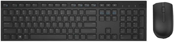 Комплект клавіатура+миша Dell KM636 Black (580-ADFT)