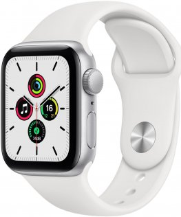 Смарт годинник Apple Watch Series SE GPS 40mm Silver Aluminium Case with White Sport Band (MYDM2)