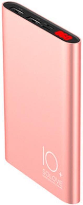 Батарея універсальна Solove A9s Power Bank 10000mAh Rose gold