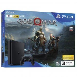 Ігрова приставка Sony PlayStation 4 Slim 1TB Black (God of War)