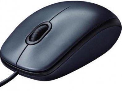 Миша Logitech Corded Mouse M100 Gray (910-005003)