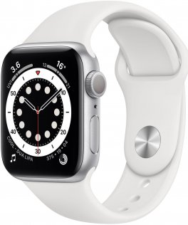 Смарт годинник Apple Watch Series 6 GPS 40mm Silver Aluminium Case with White Sport Band (MG283)
