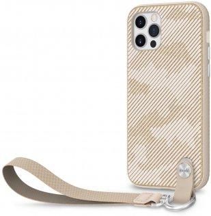 Чохол Moshi for Apple iPhone 12 / 12 Pro - Altra Slim Case with Wrist Strap Sahara Beige (99MO117307)
