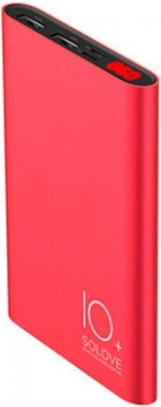Батарея універсальна Solove A9s Power Bank 10000mAh Red