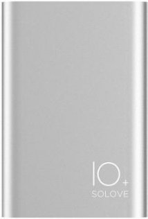 Батарея універсальна Solove A9s Power Bank 10000 mAh сріблястий