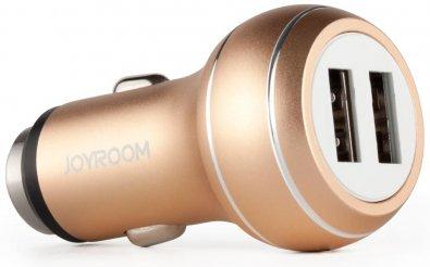 Автомобільний зарядний пристрій JoyRoom USB Dual Charger 2xUSB 2.1A золотий