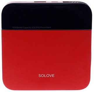 Батарея універсальна Solove A210 mini Power Bank 10000mAh Red