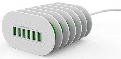 Зарядний пристрій ColorWay PowerPort 6xUSB 7A White (CW-CHS07AW)