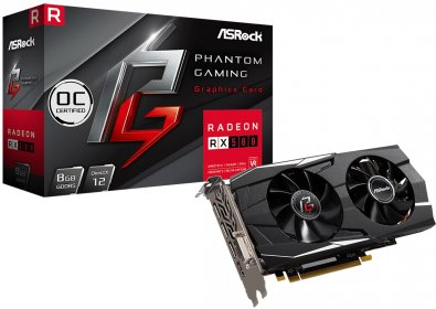 Відеокарта AsRock RX 580 Phantom Gaming D OC (PG D RADEON RX580 8G OC)
