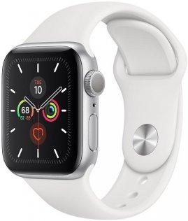 Смарт годинник Apple Watch Series 5 GPS, 40mm Silver Aluminium Case with White Sport Band (MWV62)