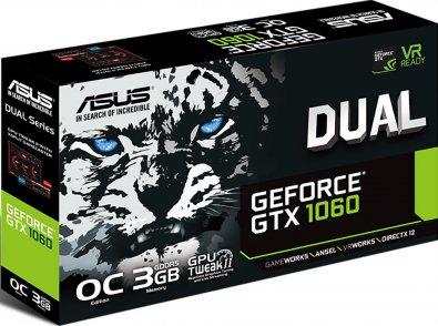 Відеокарта ASUS GTX1060 Dual 3G (DUAL-GTX1060-3G)