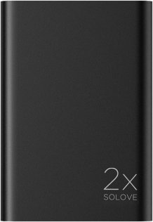 Батарея універсальна Solove A8s Power Bank 20000 mAh чорний