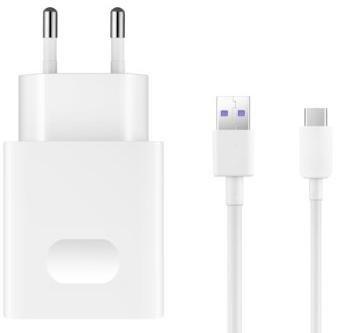 Зарядний пристрій Huawei AP81 SuperCharge 4.5V 5A White with Cable Type-C