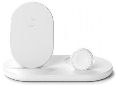 Док-станція Belkin 3in1 Wireless Pad/Stand/Apple Watch White (WIZ001VFWH)