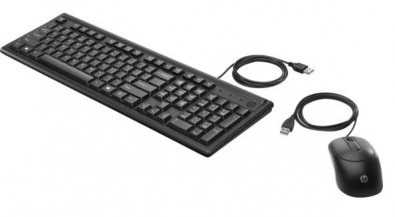 Клавіатура+миша, HP Wired Keyboard and Mouse 160 USB, Black