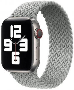 Ремінець HiC for Apple Watch 44/42mm - Braided Solo Loop Summit White - Size S (44/42mm Braided Summit White S)