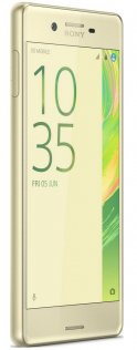 Смартфон Sony Xperia X F5122 / 2SIM золотий екран ліва сторона