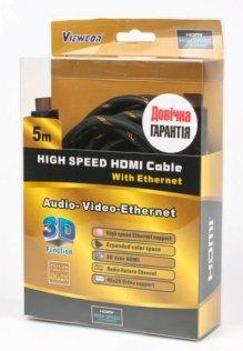 Кабель Viewcom HDMI / HDMI 5 м чорний (VD 515-5м.)