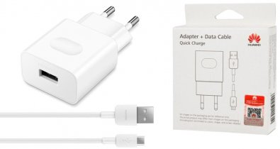 Зарядний пристрій Huawei AP32 QuickCharge 5V 2A White with Cable MicroUSB
