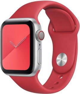 Ремінець HiC for Apple Watch 42mm - Silicone Case Red