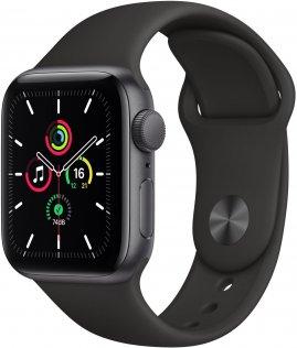 Смарт годинник Apple Watch Series SE GPS 40mm Space Gray Aluminium Case with Black Sport Band (MYDP2)