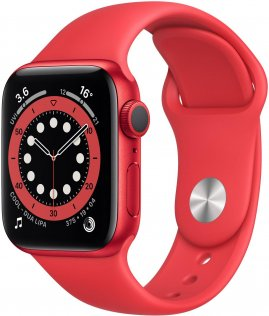 Смарт годинник Apple Watch Series 6 GPS 40mm PRODUCT RED Aluminium Case with PRODUCT RED Sport Band (M00A3)