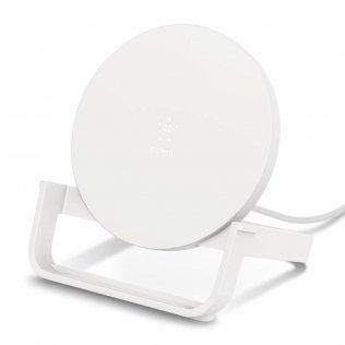 Зарядний пристрій Belkin Stand Wireless Charging Qi 10W White (WIB001VFWH)