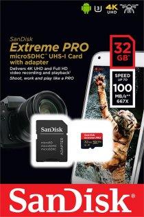 Карта пам'яті SanDisk Extreme Pro Micro SDXC V30 A1 32 ГБ (SDSQXCG-032G-GN6MA)