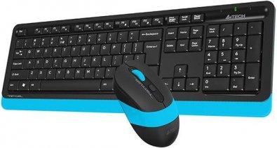 Комплект клавіатура+миша A4tech FG1010 Blue