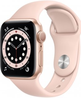 Смарт годинник Apple Watch Series 6 GPS 40mm Gold Aluminium with Pink Sand Sport Band (MG123)