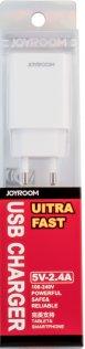 Мережевий зарядний пристрій JoyRoom 1хUSB 2.4A білий